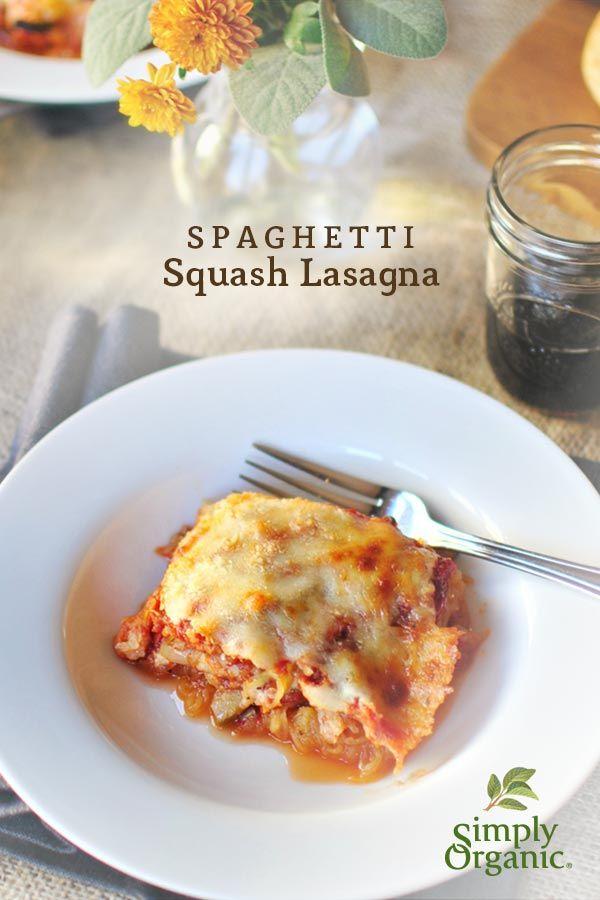 Gluten-free spaghetti squash lasagna recipe developed by @Design Hub McNamara ~ Simply Scratch of simplyscratch.com