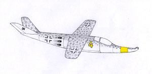 The Fliegende Panzerfaust, meaning 'Flying Bazooka' (literally 'Flying Armor Fist') in the German language, was a project for a Third Reich very-short-range interceptor designed by Luftschiffbau Zeppelin.  The Fliegende Panzerfaust project was part of the Nazi propaganda-based Wunderwaffe ('wonder weapon') concept. It was proposed to the Emergency Fighter Program against the allied bombing raids over Nazi Germany in the last years of World War II.