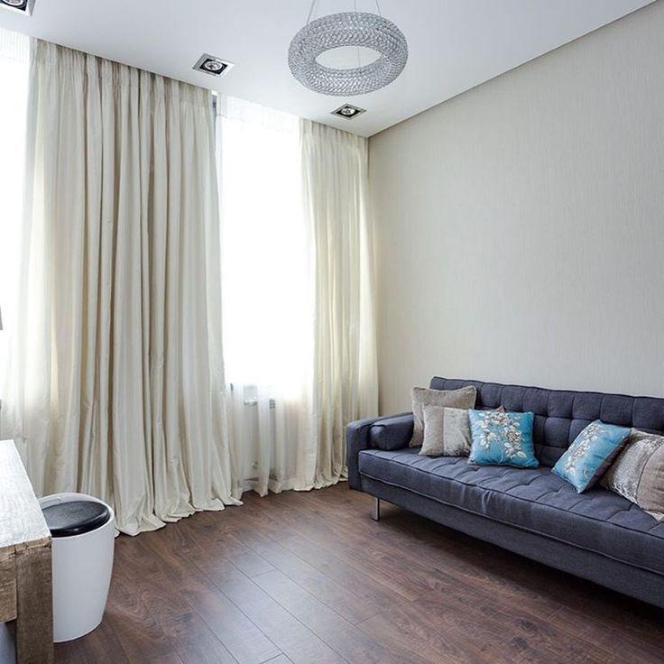 чтобы #гостиная была полна света #дизайнер @tatianalyashuk использовала #ткани из коллекций #galleria_arben