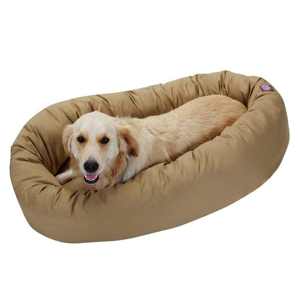 Majestic Pet Solid Poly Cotton Bagel Dog Bed Machine Washable Khaki Large 40 X 29 X 9 Walmart Com Majestic Pet Dog Bed Dog Bed Buy