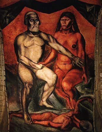 Jose Clemente Orozco- Cortes y la Malinche.  Art Experience NYC  www.artexperiencenyc.com