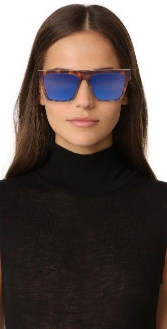 McQ - Alexander McQueen Oversized Flat Top Sunglasses   SHOPBOP