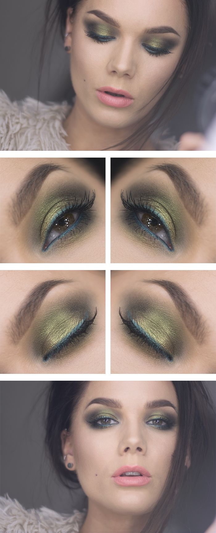Todays look – Saffron with green highlights