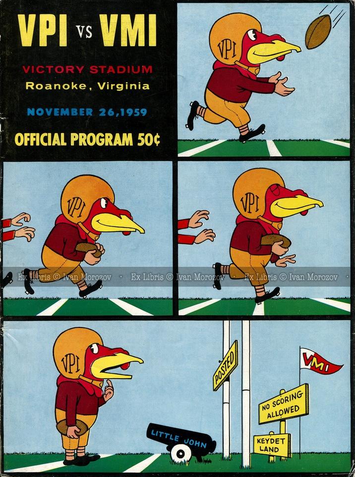 1959.11.26. Virginia Tech (Hokies) vs Virginia Military