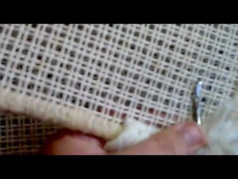 Alfombra como se pone la lana en el cañamazo