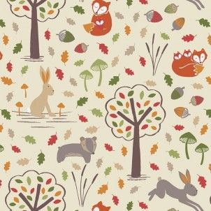 http://www.plushaddict.co.uk/all-fabric/quilting-weight-cottons/by-collection/fox-and-friends-lewis-and-irene/lewis-irene-fox-friends-cream-fox-friends.html Lewis & Irene - Fox & Friends Cream Fox & Friends