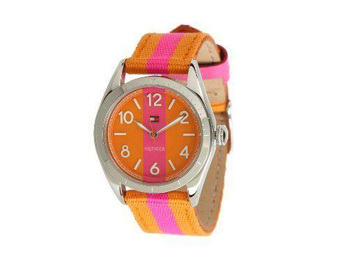 Tommy Hilfiger Pink Orange Stripes Womens Watch 1781295 Tommy Hilfiger. $105.00