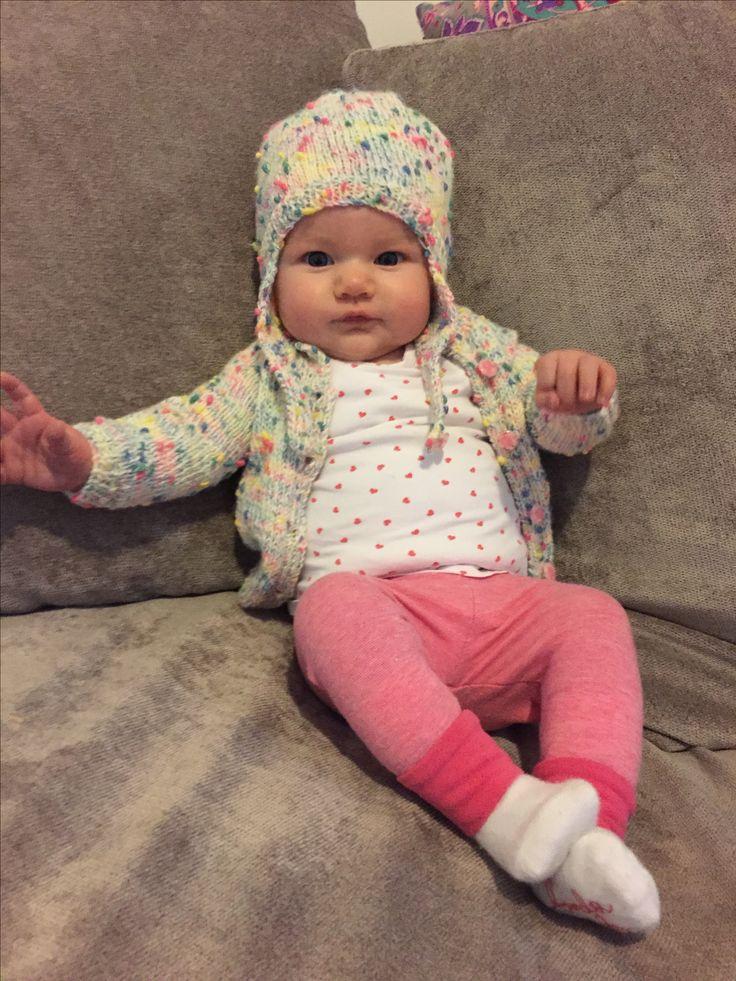 Toddler hat & cardigan