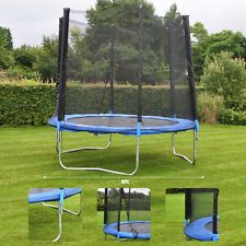 8 FOOT 8FT TRAMPOLINE WITH NET ENCLOSURE KIDS CHILDRENS EXTRA BOUNCY SAFETY
