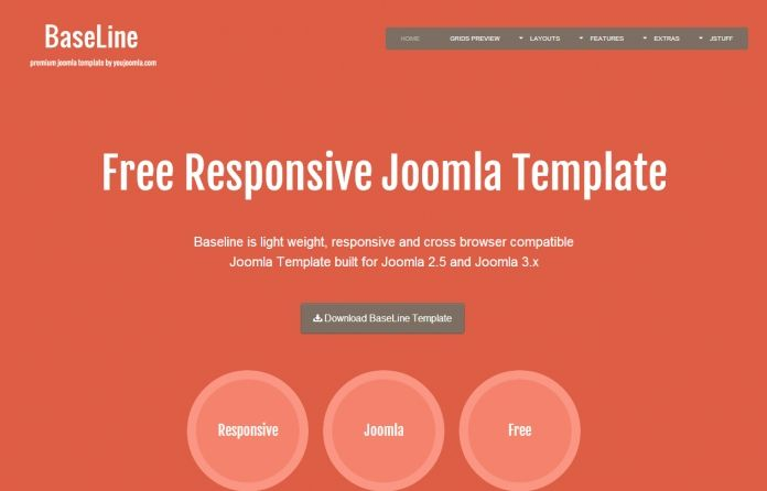 Baseline - #Free Joomla 2.5 & 3.x template. Comes with #responsive layout , 3 template styles , custom module styles.