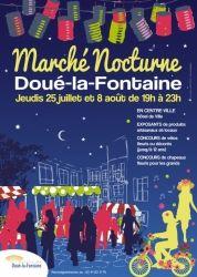 Marché nocturne, Doué-la-Fontaine, Pays de la Loire