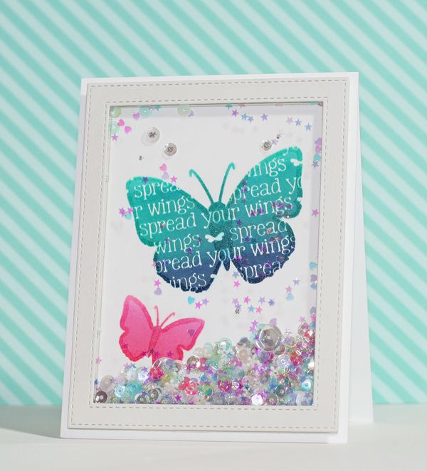 Round Here: Ombre Stamping & Outline Embossing