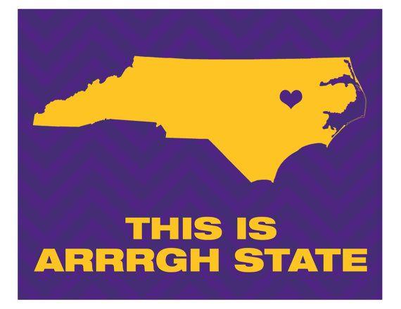 Custom 8x10 Digital  Print  This is Arrgh State - ECU East Carolina Pirates by aprintabledesign, $6.50