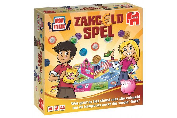 Het zakgeldspel is één van de meest verkochte kinderspellen in Nederland. Je leert met dit spel alles over betalen en over sparen. Kan jij genoeg euro's bij elkaar sparen om een nieuwe fiets te kopen?  #jumbo #spel #kindercadeau
