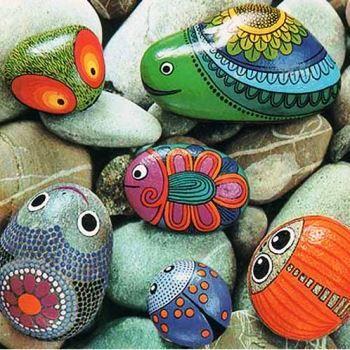 Декоративное раскрашивание камней для заднего двора