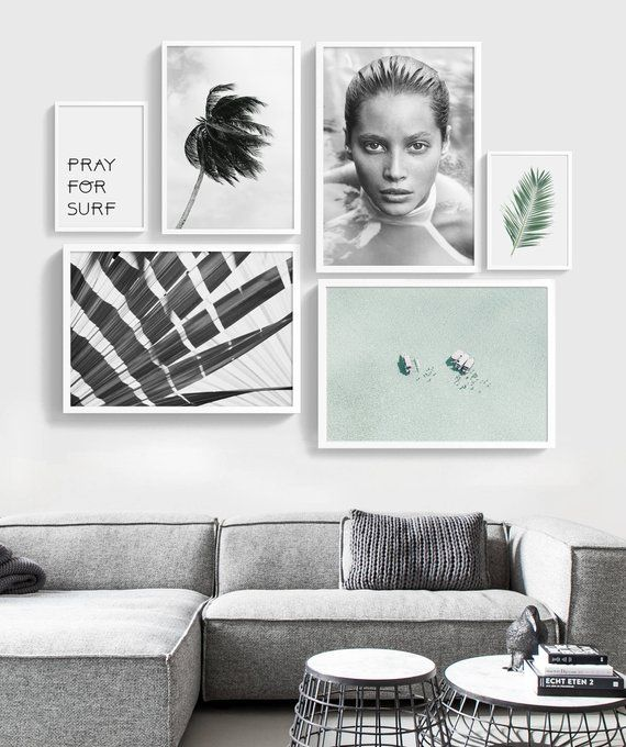 Gallery Wall Beach Wall Art Set Of 6 Prints Printable Set