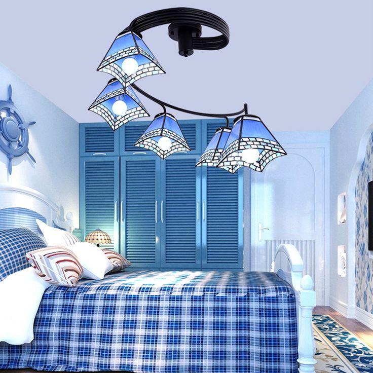 led e27 Mediterranean Iron Glass LED Lamp.LED Light.Ceiling Lights.LED Ceiling Light.Ceiling Lamp For Foyer Bedroom Foyer #Affiliate
