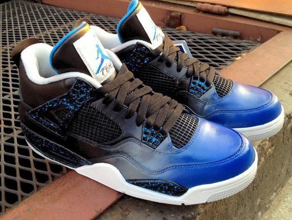 """Air Jordan 4 Custom """"Blue Steel"""""""