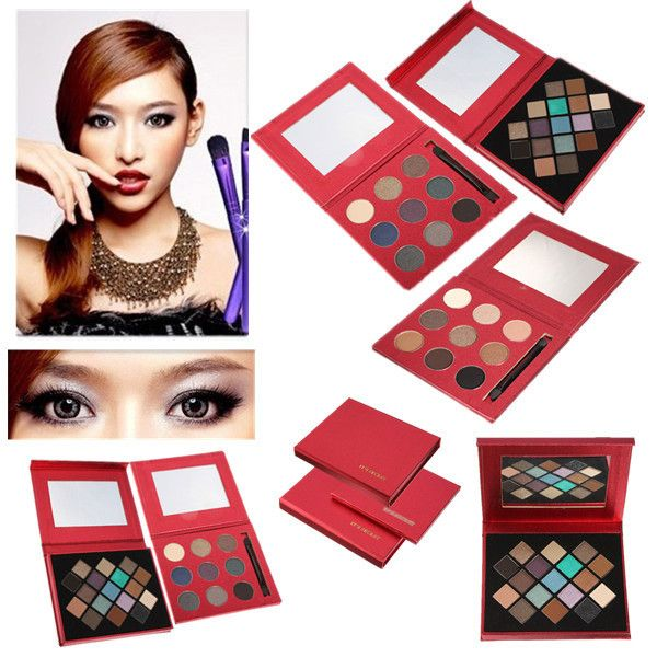 9/17Colors Glitter Shimmer Eyeshadow Powder Palette & M