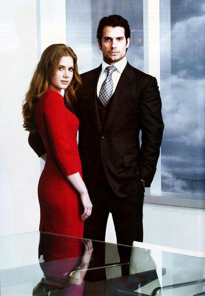 Amy Adams and Henry Cavill, a.k.a. Lois Lane and Clark Kent/Superman <3