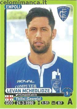 Calciatori 2014-2015: Fronte Figurina n. 127 Levan Mchedlidze