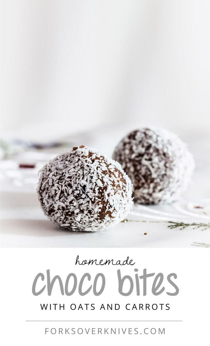 These raw choco bites might look and taste decadent, but they're mainly made of banana, carrot, and oats.