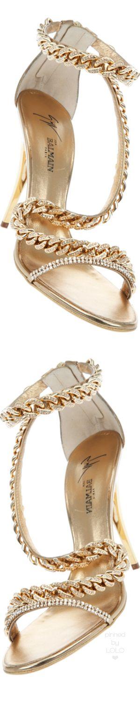 Giuseppe Zanotti for Balmain Gold Jewel Chain Stiletto | LOLO❤︎