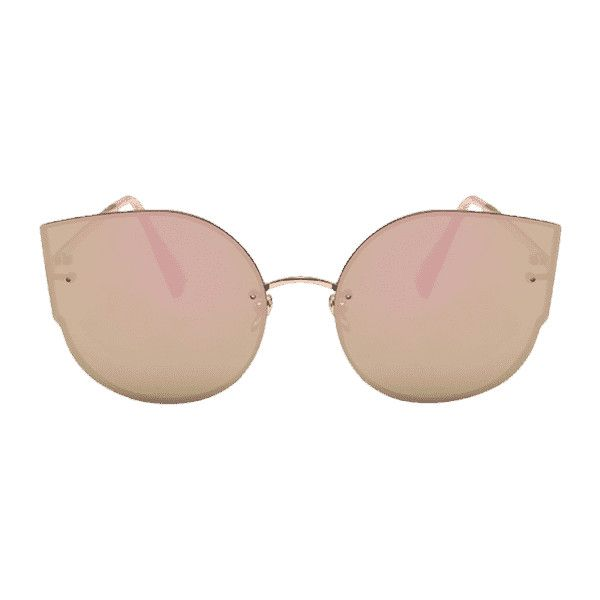 7937c5b41f Anti-Fatigue Metal Full Frame Decoration Cat Eye Sunglasses Pink ( 30) ❤  liked on Polyvore featuring accessories