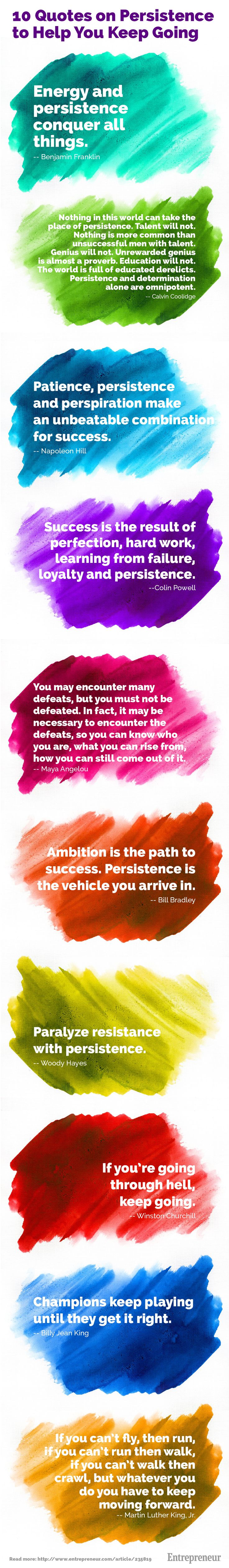 10 Quotes on Persistence to Help You Keep Going http://www.janetcampbell.ca/
