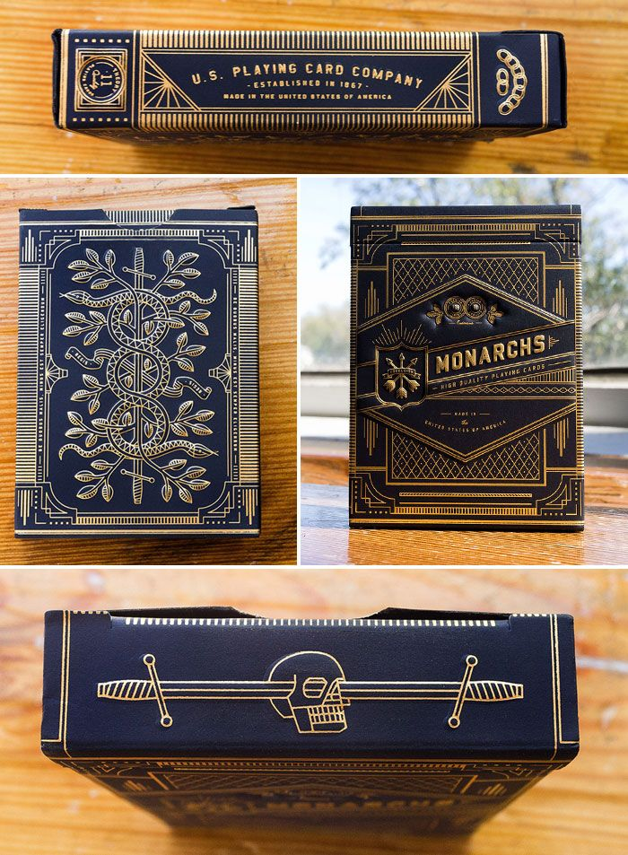 """Monarchs is a deck of Casino Quality playing cards produced by Theory11 and printed by the U.S. Playing Card Company."""