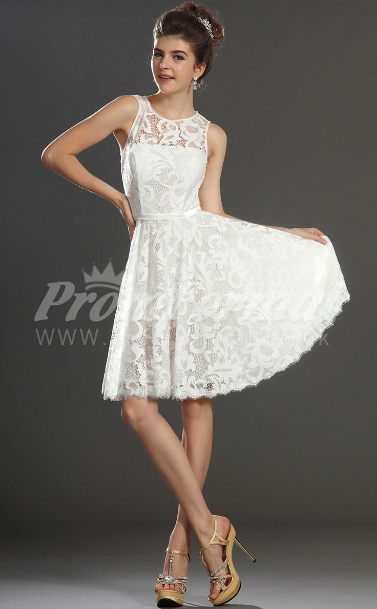 White short evening dress uk