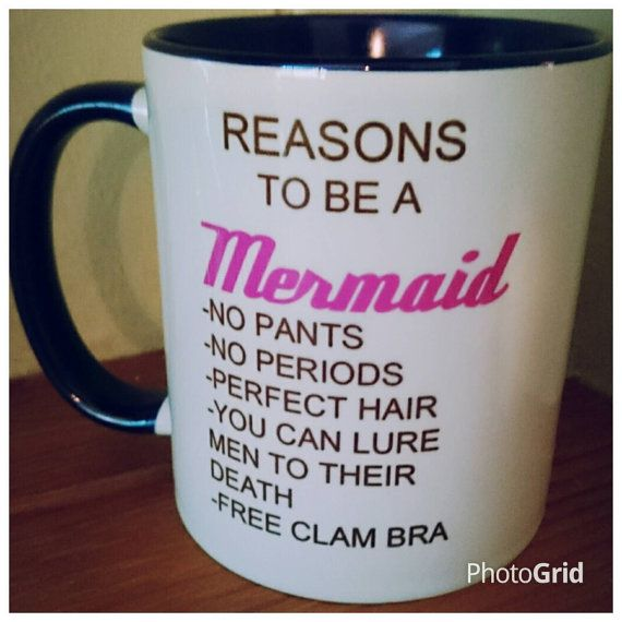 Funny Presents For Her Part - 23: Reasons To Be A Mermaid Mug Ariel Fairytale Christmas Birthday Personalised  Gift For Her Funny Girly