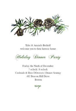 printable christmas invitation templates free