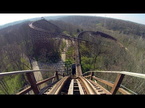 The Beast Wooden Roller Coaster POV Legendary Classic Woodie at Kings Island Ohio HD 1080p - YouTube