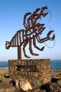 Escultura en Jameos del Aqua, Lanzarote.(Canarias) España