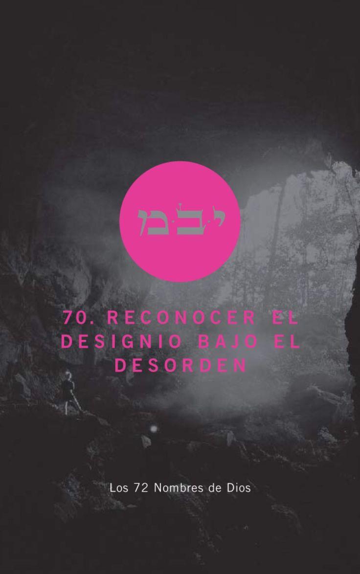 Reconocer el designio bajo el desorden