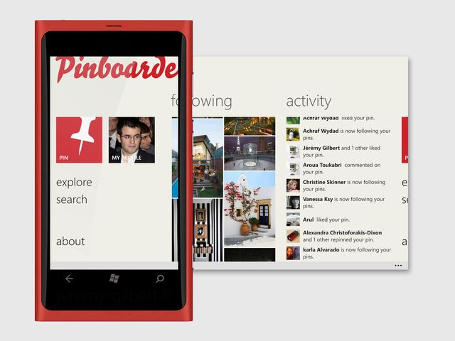 New Pinterest app for Windows Phone!