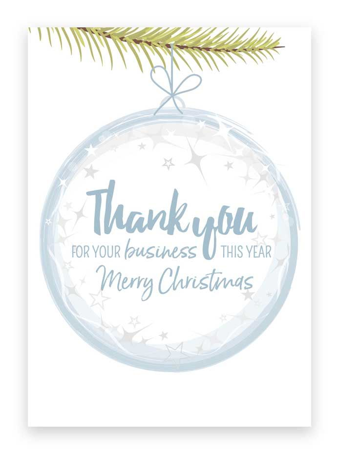 Corporate business Christmas greetings cards. Thank you for your ...