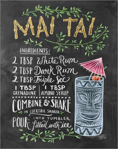 Poster Mai-Tai-Rezept                                                                                                                                                                                 Mehr