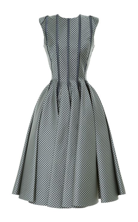 Very 1950s in the best possible way.  I love the structure. Paneled Jacquard Dress by Thom Browne - Moda Operandi
