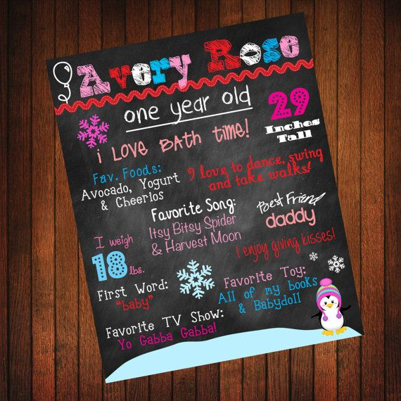 Winter ONEderland Custom Birthday Board by ThatsSoCuteEtsyShop, $36.00