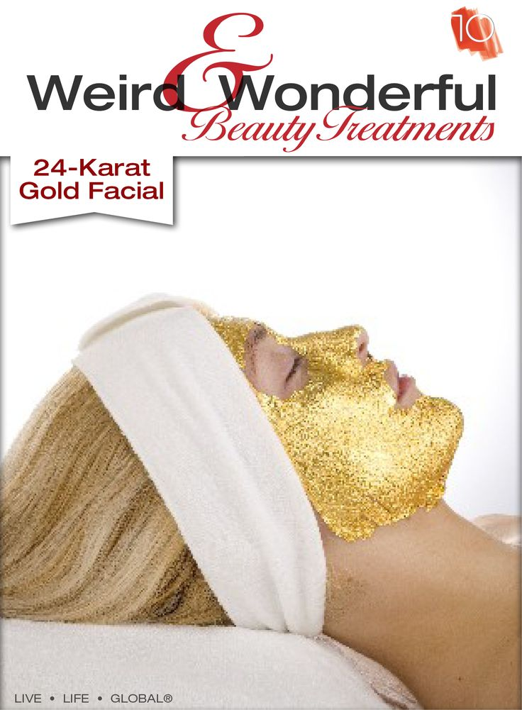 Cleopatra is rumored to have done it every night. The Gold Facial is known for regenerating your youthful skin by removing dead skin cells and oxidizing your skin. #Weird&Wonderful #24-KaratGoldFacial #PerfectSkin