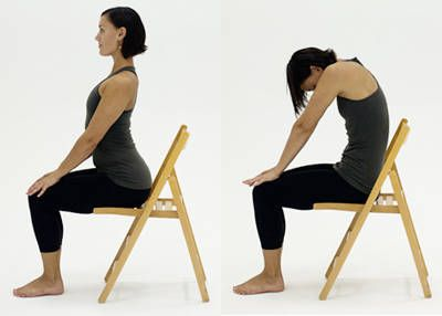 Chair Yoga Poses- perfect for stretching at work.