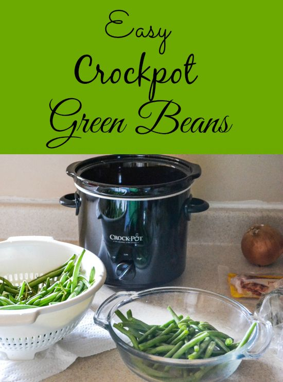 Flour On My Face | Easy Crock Pot Green Beans | http://flouronmyface.com