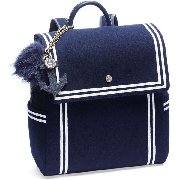 Tommyxgigi Nautical Backpack ($175) ❤ liked on Polyvore featuring bags, backpacks, navy, knapsack bag, navy bag, daypack bag, tommy hilfiger bags and nautical backpack