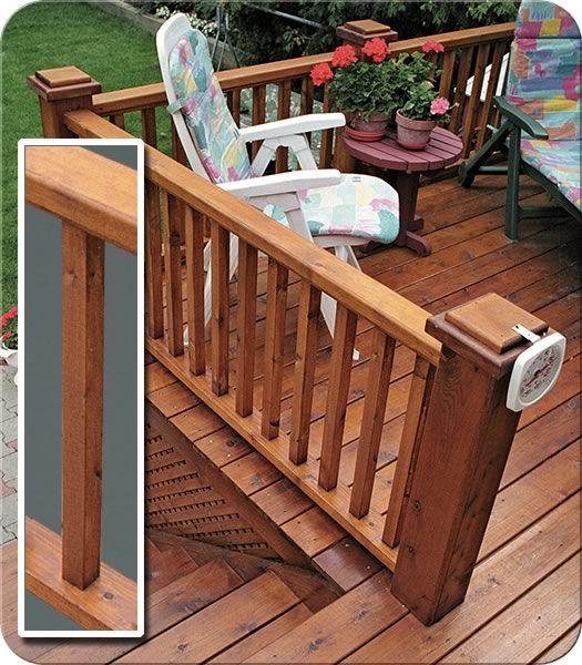 Standard Wood Railing| Fence-All