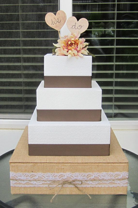 square rustic wedding cakes 102 best cakes burlap and lace images on 20366