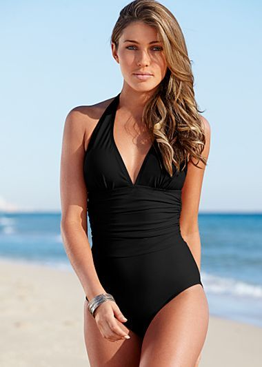 Slimming halter one piece