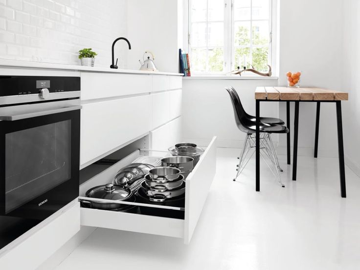 Små kjøkken stiller krav til intelligente løsninger. Derfor har Kvik utviklet en rekke løsninger for å gi rom til mer kjøkkenliv på den samme plassen.
