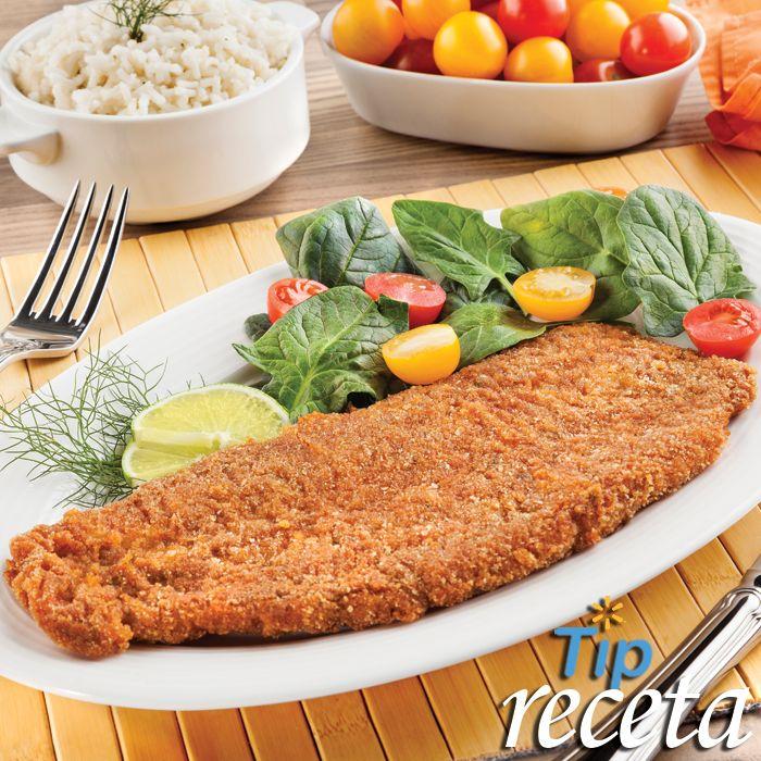 Filete de pescado empanizado.  ¿Sabías que comer pescado dos veces a la semana reduce el riesgo de padecer enfermedades cardiacas? Estas vacaciones saborea un Filete de pescado empanizado.   En Walmart SIEMPRE encuentras TODO y pagas menos.